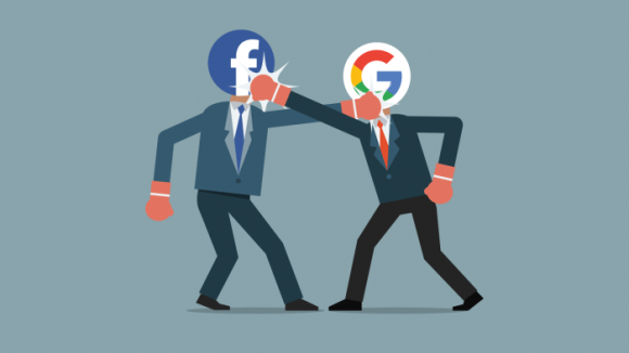 Faceoobk versus Google