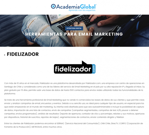 Fidelizador en Academia Global