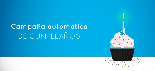 Campaña automática saludo de cumpleaños