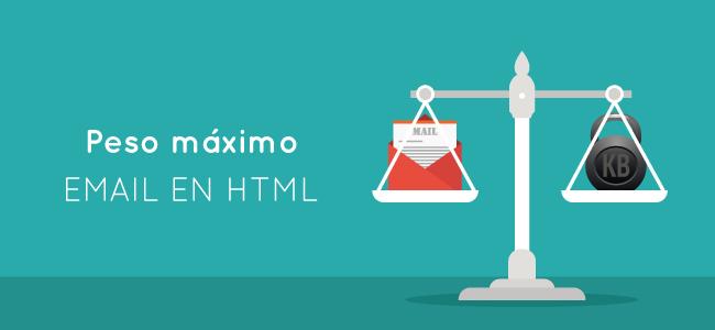 Peso máximo email en html