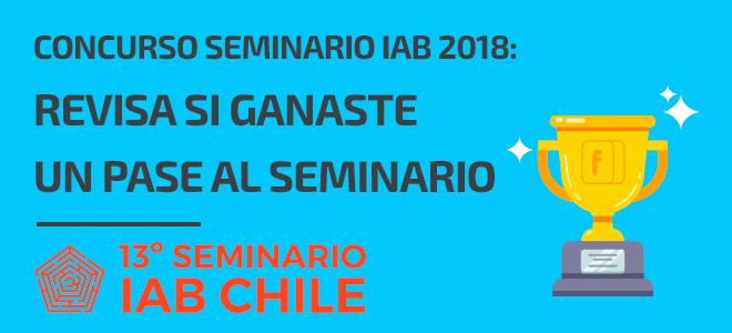Ganador pase Seminario IAB Chile 2018
